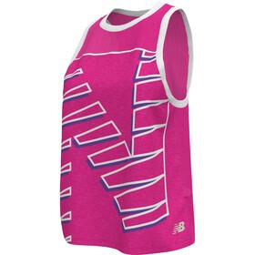 New Balance Printed Fast Flight Tank Women pink glow heather